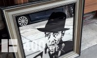 Vintage καθρέφτης με τον Humphrey Bogart.